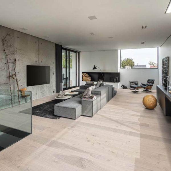 Kahrs Oak Sky Engineered Wood Flooring - Room Set