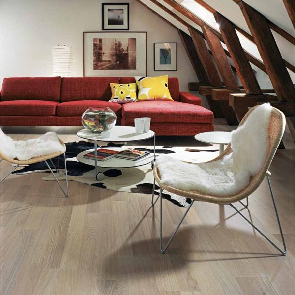 Kahrs Oak Tide Engineered Wood Flooring - Room Set