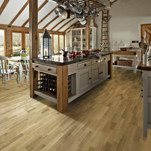 Kahrs Oak Vienna Engineered Wood Flooring - Room Set