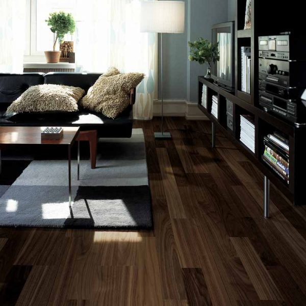 Kahrs Walnut Bloom Engineered Wood Flooring - Room Set