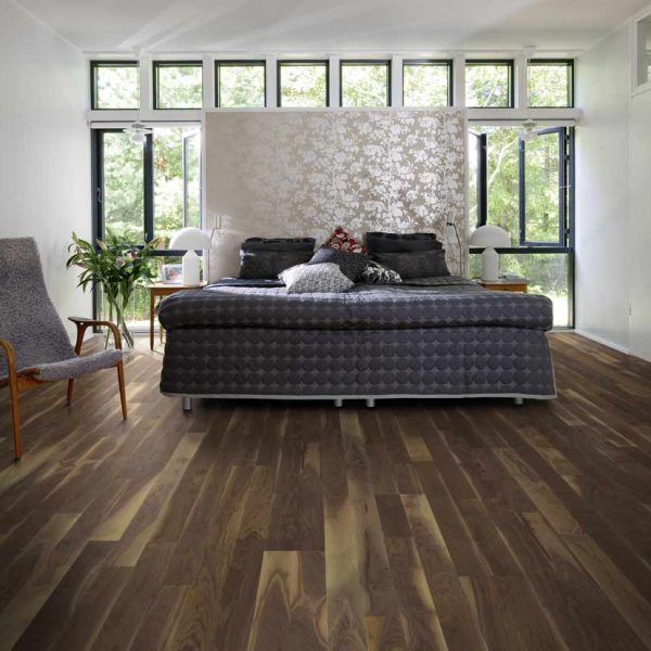 Kahrs Walnut Georgia Engineered Wood Flooring - Room Set