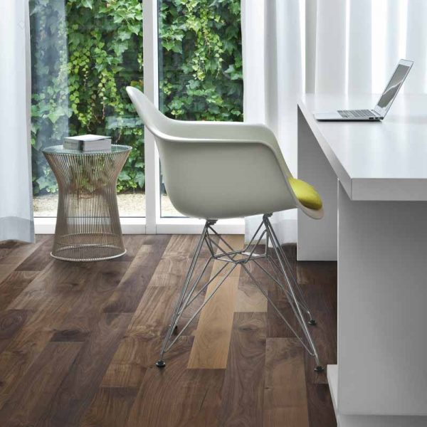 Kahrs Walnut Groove Engineered Wood Flooring - Room Set