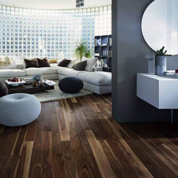 Kahrs Walnut Rain Engineered Wood Flooring - Room Set