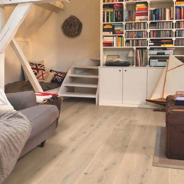 Quickstep Compact Oak Himalayan White Extra Matt COM3098 - Room