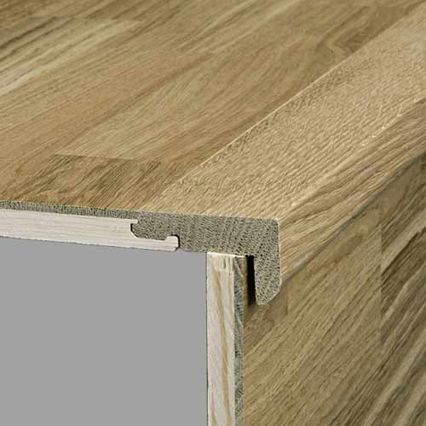 Kahrs Solid Stairnose 7mm Woodloc 27 x 59 x 2400mm