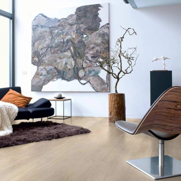 Quickstep Eligna Varnished Oak Light Grey Planks EL1304 - Room