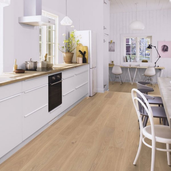 Boen Oak Andante White 181mm Matt Lacquer EIGD32FD - Room