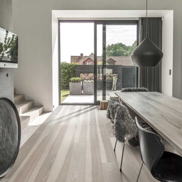 Kahrs Ash Stream Engineered Wood Flooring - Room Set