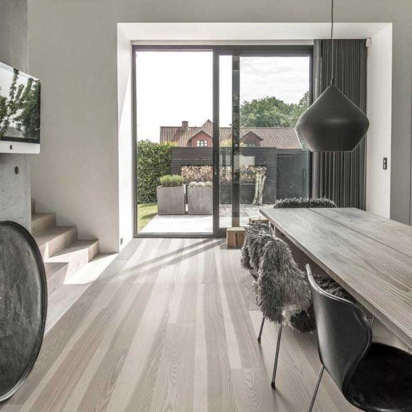 Kahrs Ash Stream Engineered Wood Flooring - Room Set