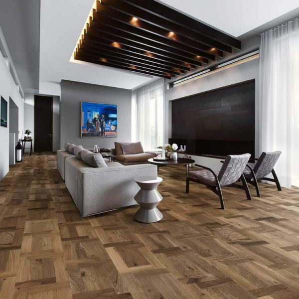 Kahrs Castello Fumo Engineered Wood Flooring - Room Set