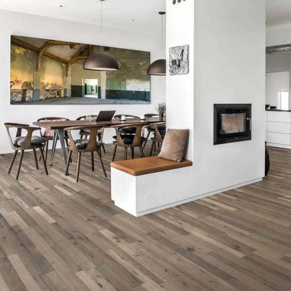 Kahrs Oak Roccia Engineered Wood Flooring - Room Set