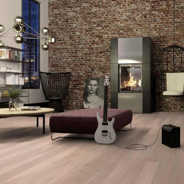 Boen Oak Coral White Chaletino Brushed Live Natural OPCY4MFD - Room