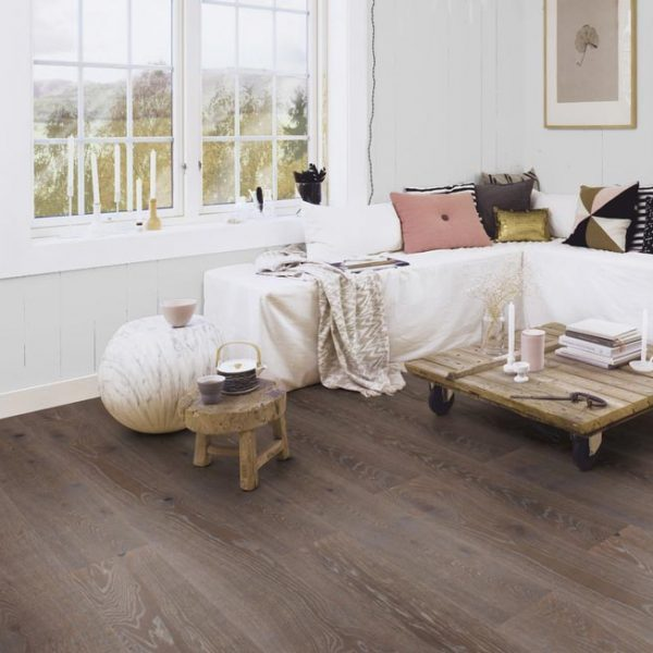 Boen Stonewashed Oak Graphite 209mm Brushed Live Natural YCGVVKFD - Room