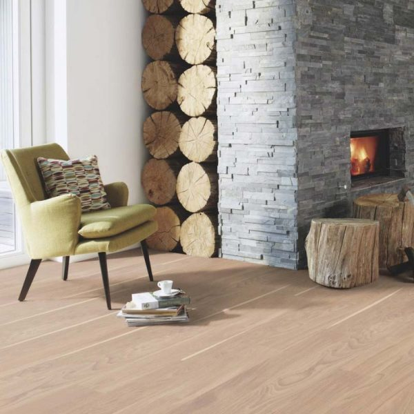 Boen Finesse Oak White Nature Live Matt EILE32PD - Room