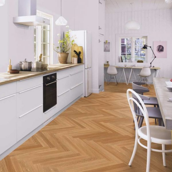 Boen Prestige Herringbone Oak Select Live Satin EIN22P5D - Room