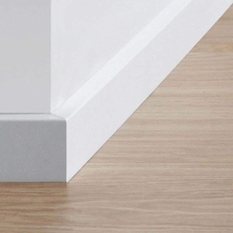 Quick step paintable skirting board one stop flooring - Precio rodapie blanco ...