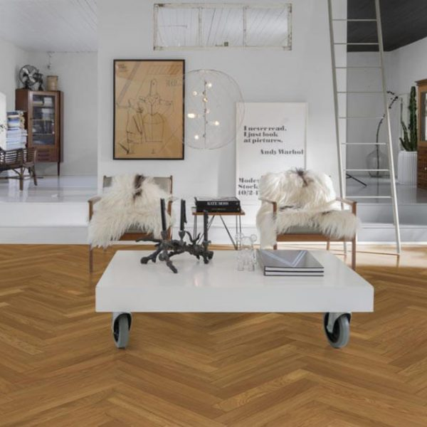 Kahrs Oak Herringbone AB Natural Oiled - Room