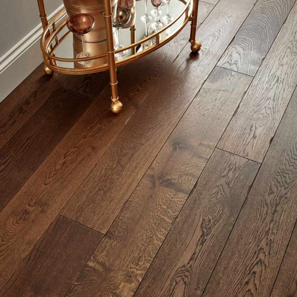 Woodpecker Chepstow Distressed Charcoal Oak Engineered Wood Flooring