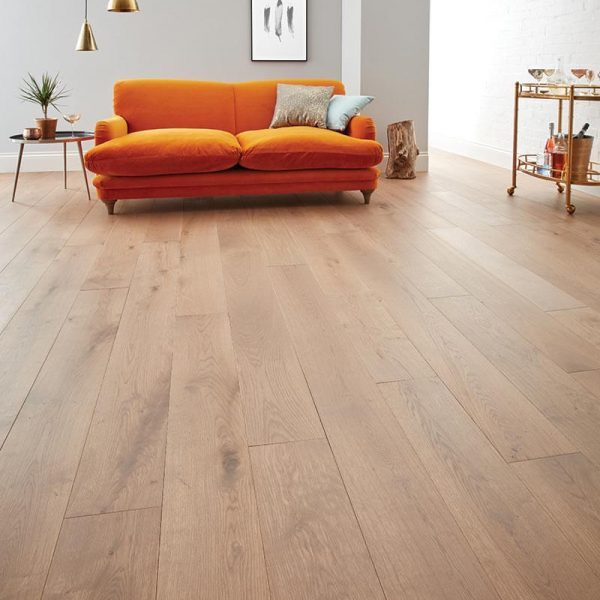 Woodpecker Chepstow Planed Grey Oak Engineered Wood Flooring