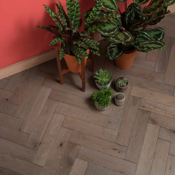 Woodpecker Goodrich Barn Oak Herringbone Engineered Wood Flooring
