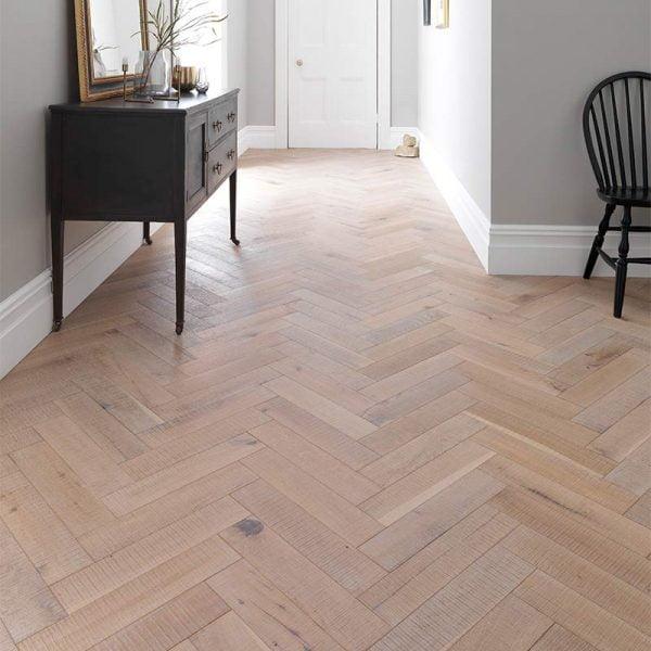 Woodpecker Goodrich Salted Oak Engineered Wood Flooring - Hallway