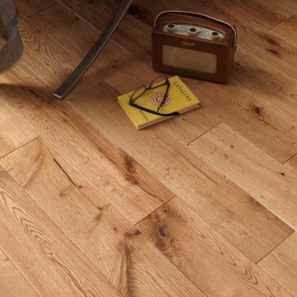 Woodpecker York Rustic Oak Lacquered - Solid Wood Flooring