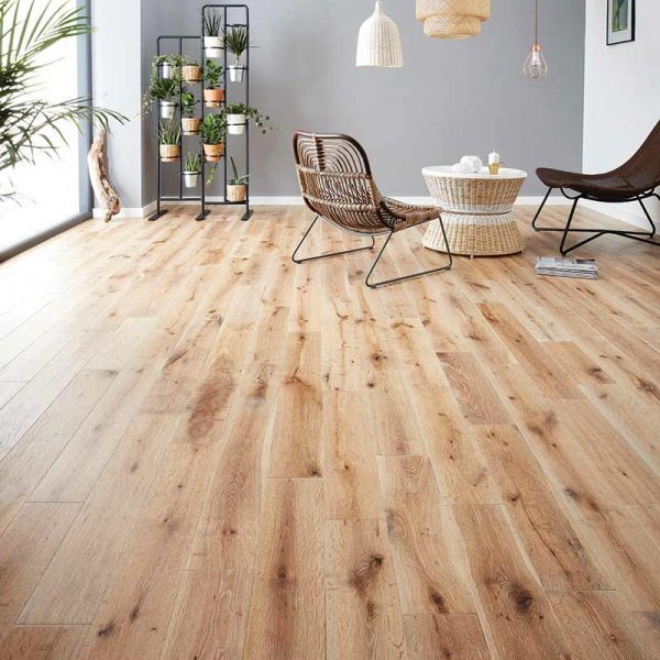 Woodpecker York White Washed Oak - Solid Wood Flooring