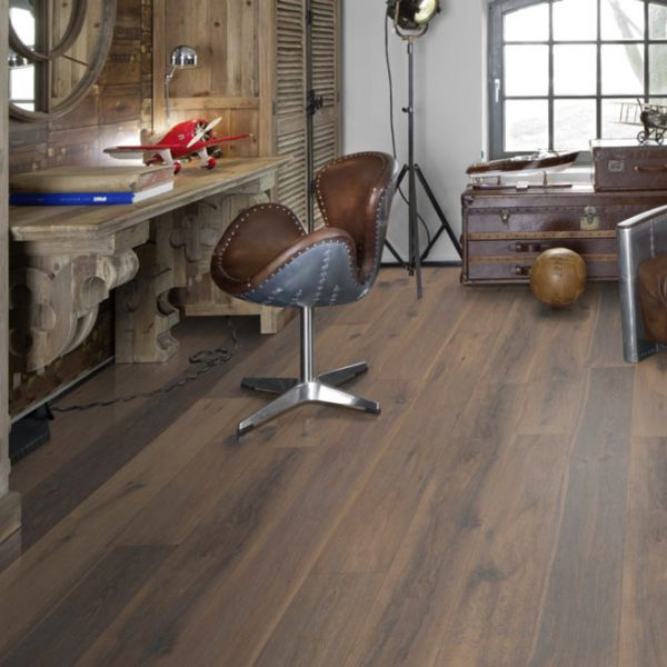 Kahrs Old Town Edinburgh Timeless Grey Oak Engineered Wood Flooring - Room