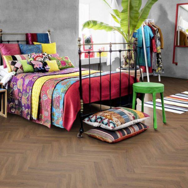 Kahrs Redwood Herringbone CHW 120 Click Vinyl Flooring