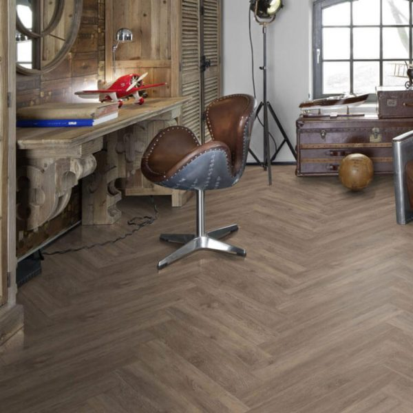 Kahrs Sarek Herringbone CHW 120 Click Vinyl Flooring