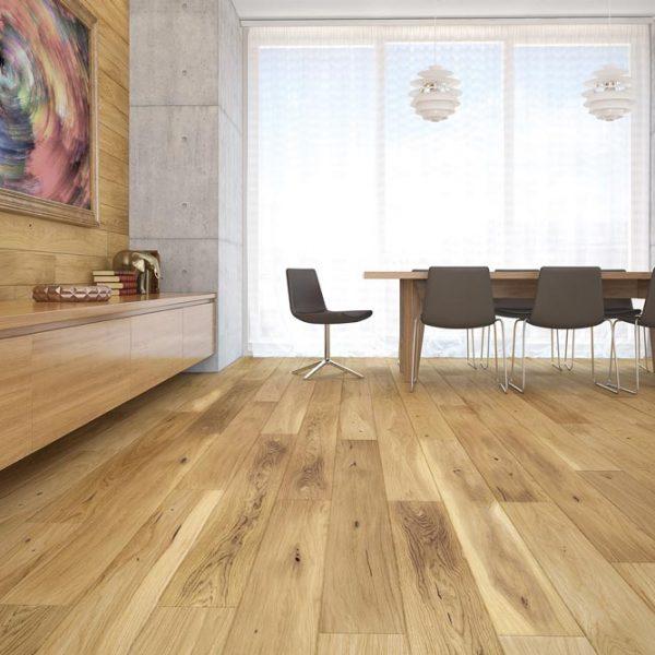 Basix Engineered Classic Oak Natural Matt Lacquer BF01 - Room