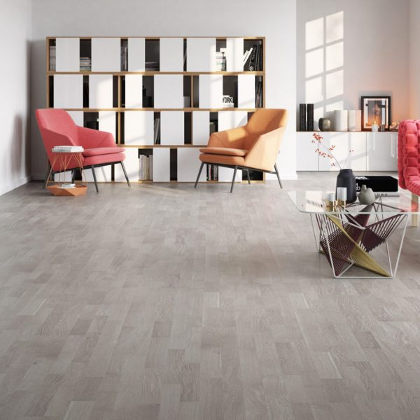 Basix Engineered Classic Grey Oak Washed 3 Strip BF16 - Room