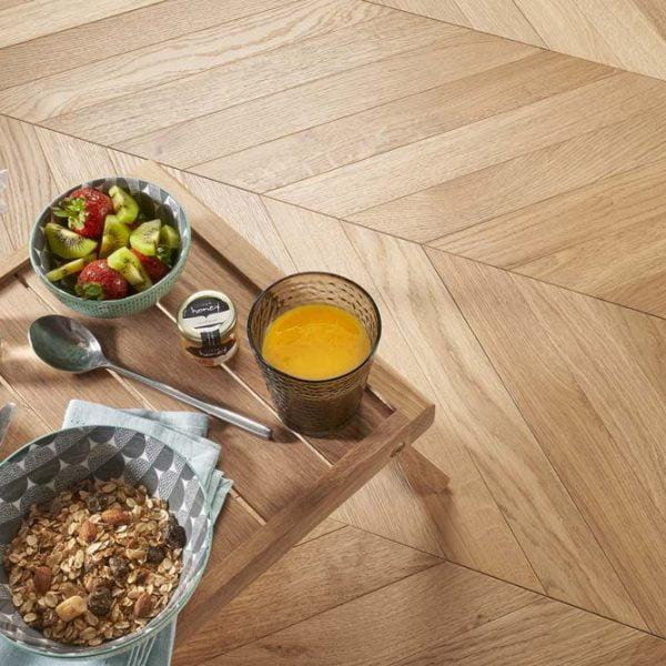 Basix Chevron Tile Natural Oak BF50 - Room