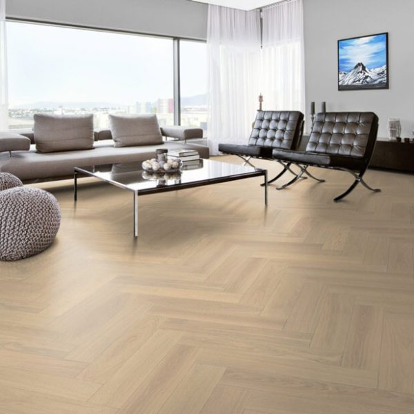 Kahrs Herringbone Oak AB White - Room