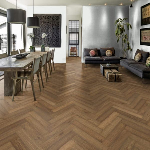 Kahrs Herringbone Oak CD Smoked - Room
