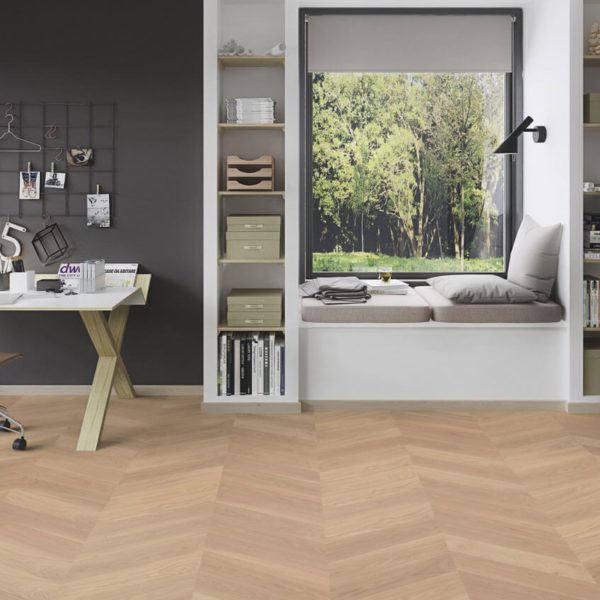 Boen Oak Chevron Adagio White Live Natural